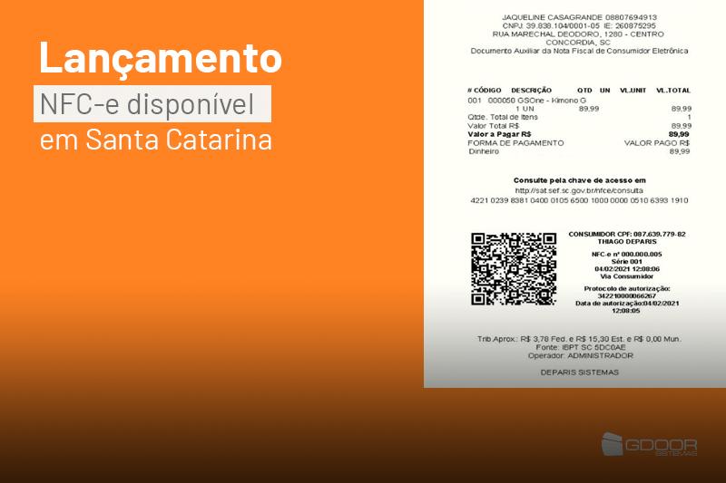 O lançamento da NFC-e em Santa Catarina